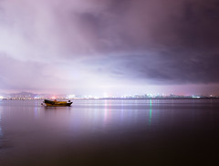 Shenzhen Bay Night (Explored 2013/08/26) photo by Wilson.L