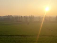 Coucher de soleil sur la Meuse