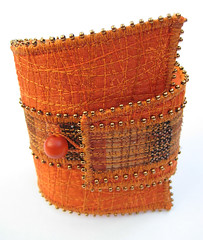 Terracotta wedge cuff bracelet photo by Tors Duce - art of the accessory