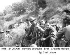 BM 4 Chambarand - 1945 24-25Avril_Croix de Mairige_Lafaye  - Col. Emile Gauthier