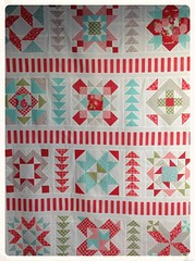 Fat quarter shop designer mystery block of the month photo by Blue Bellbird