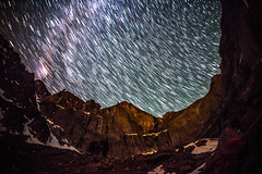 Longs Peak Star Trails photo by RSBurnsIM