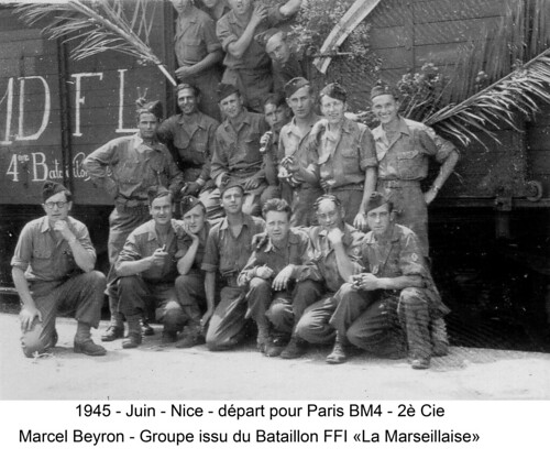 BM 4 Chambarand - 1945 Juin_Nice_Depart Paris - Col. Emile Gauthier