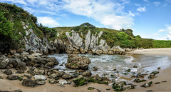 Playa de Gulpiyuri, Asturias photo by Gene Krasko Photography