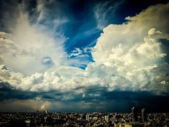"Towering Clouds -- It's called ""Super Cell"" photo by hidesax"