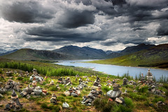 Cairns Overlooking Loch Loyne photo by Philipp Klinger Photography