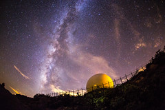 Milky Way and radar dome atop Mount Laguna photo by slworking2
