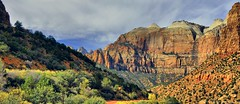 Panorama Zion Canyon in November photo by lhg_11, 900,000+ views! Thank You
