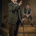 Patrick Clear (Joe) and John Hoogenakker (Dermot)in PORT AUTHORITY at Writers Theatre. Photo by Michael Brosilow.