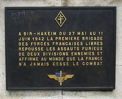 Plaque Bir-Hakeim Pont de Bir-Hakeim Paris