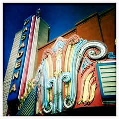 Art Deco neon beauty -- the Capitan Theater in Pasadena, Texas photo by mollyblock