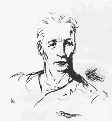 Brosset- croquis de son ami écrivain Vercors