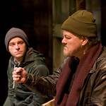 Patrick Andrews (Sam) and Francis Guinan (Eddie) in DO THE HUSTLE at Writers Theatre. Photos by Michael Brosilow.