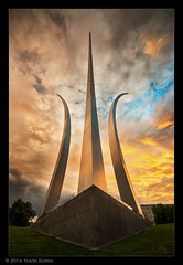Dramatic Sunset at the Air Force Memorial photo by navinsarma