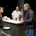 Patrick Andrews (Sam), Joe Miñoso, and Francis Guinan (Eddie) in DO THE HUSTLE at Writers Theatre. Photos by Michael Brosilow.