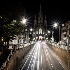 Notre-Dame de Laeken by night photo by Thierry Hudsyn