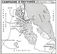 1941- Erythrée-  carte erythrée