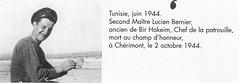 RFM-  Lucien Bernier, ancien de Bir Hakeim, MPLF 2 octovre 44 en forêt de Chérimont