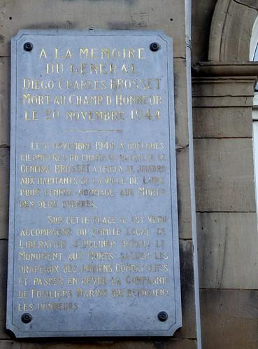 Lure - Plaque Brosset à la Mairie