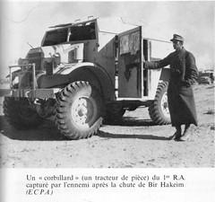 1942- Bir Hakeim - un tracteur de pièce du 1er RA capturé après la chute de Bir Hakeim ECPA Bergot