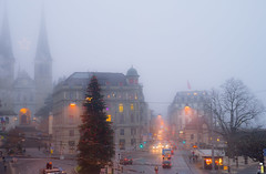 Lucerne in morning fog (13 December 2013) photo by Mac Qin