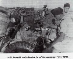 1942 - Tobrouk hiver 42 43 un 25 livres 88 mm à  Gambut