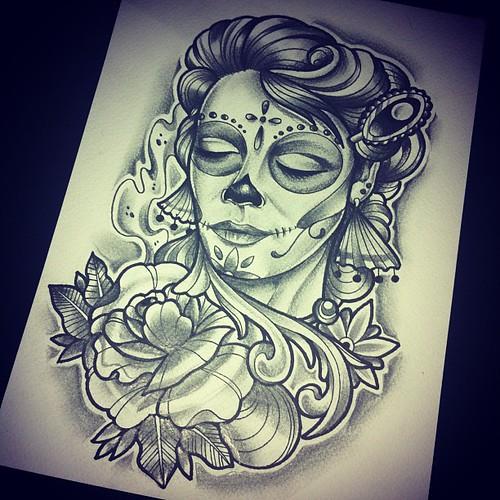 Photo Tattoo Skull Warrior ta2 tinta tattoo