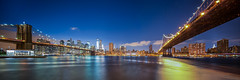 Dumbo, NYC Panorama of Brooklyn and Manhattan Bridges photo by Strykapose
