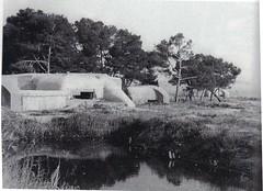 Provence- 1944 - Casemate  des salins d'Hyères près embouchure Gapeau- Col Part- Gaujac