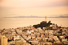 Coit Tower overlooking San Francisco Bay photo by jflower74 | jennifer webb photography