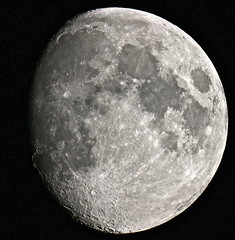 Waxing Gibbous Moon 15/10/2013 [Explored] photo by Sarah and Simon Fisher