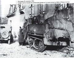 1945- Franche Comté- Giromagny- Fusiliers marins rescapés de l'embuscade du Ballon d'Alsace - co. Zeller - Source   La Voge 2012 Hors série - Libération du pays