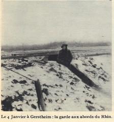 1945- Alsace- Gerstheim - garde aux abords du Rhin - Source - 1ere dfl épopée d'une reconquete