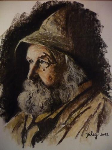 Vieux pêcheur normand