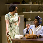Wandachristine (Quilly) and Cheryl Lynn Bruce (Elizabeth) in THE OLD SETTLER at Writers Theatre. Photos by Michael Brosilow.