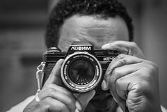 self-portrait w/ Minolta X-7A photo by Ken B Gray