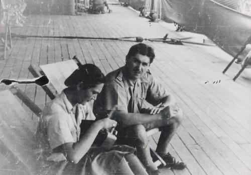 BM 2 -41 mars- a bord du Thysville- Marthe Dieterlen inf vol ADS  et P Gabard - Fonds Amiel