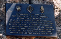 Authion- 1998 Plaque à l'Authion - col. Bernard Frizza