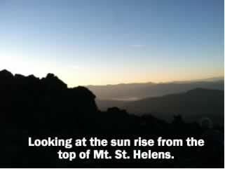 Mt. St. Helens Sunrise