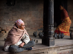 In Potters' Square, Bhaktapur photo by JoshyWindsor