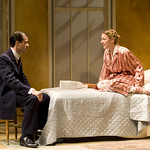 Rod Thomas (Georg) and Jessie Mueller (Amalia) in SHE LOVES ME at Writers Theatre. Photos by Michael Brosilow.
