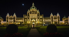The Night Lights of the British Columbia Parliament Building - Victoria BC Canada photo by mbell1975