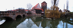 Student Residence between two Bridges in Nuremberg, Germany photo by Batikart