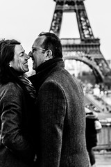 Couple close to The Eiffel Tower, Paris photo by Photos-Change-The-World