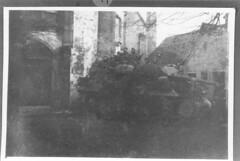 Alsace 1945 novembre -  Masevaux. char du 8e RCA - Col. Gérard Galland
