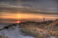 Blavand Lighthouse Sunset photo by blavandmaster
