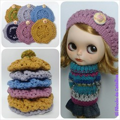 Están casi casi listos para comer . New cupcake berets, coming soon...on my *tsy! photo by Angela (qmc)