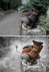 Before & After (Keep Walking) photo by Ben Heine