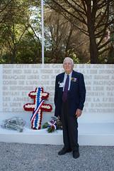 Croix Valmer - Monument 1ere DFL - Monsieur François Gyuetand (ancien du RFM)