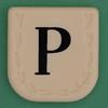 Line Word black letter P